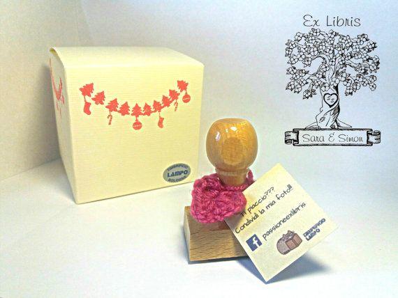 TIMBRO ex libris di coppia con albero iniziali di Passioneexlibris