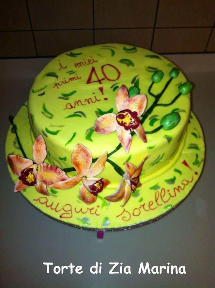 Torte di zia Marina: Torta orchidea