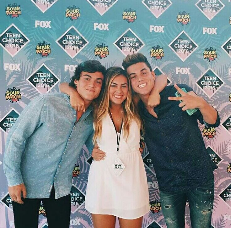 The dolan twins & cameron yesterday at the tca's