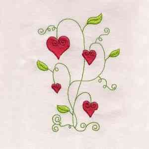 Free Embroidery Design: Valentine Flowers