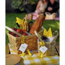 Picknickmanden voor het buffet
