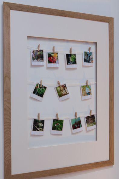 Les 25 meilleures id es concernant affichage polaro de sur - Idee cadre photo a faire soi meme ...