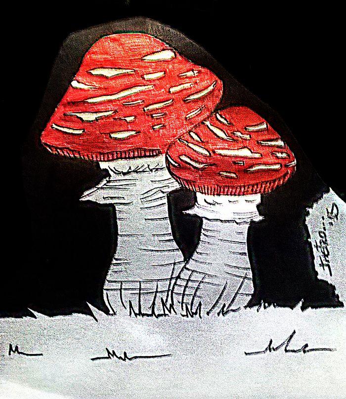 Hongos - 2015- JhetroMan.-  #dibujo #arte #psicodelia #trip #JhetroMan #psychedelic #drawing #ilustration