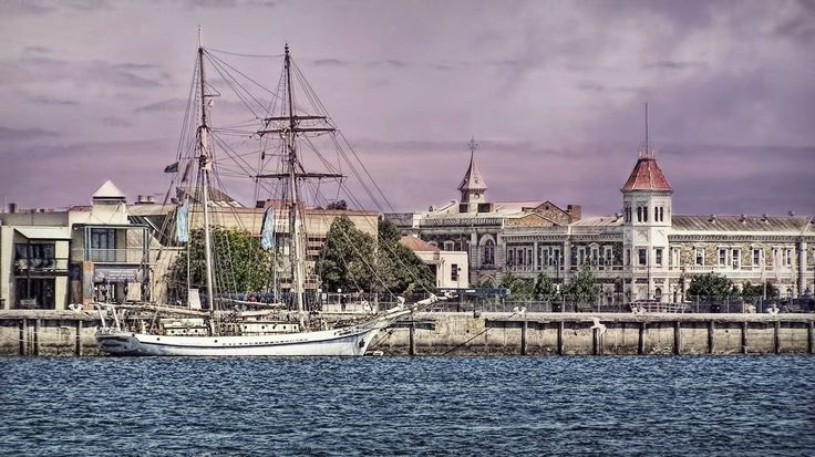 Historical buildings and ship, Port Adelaide
