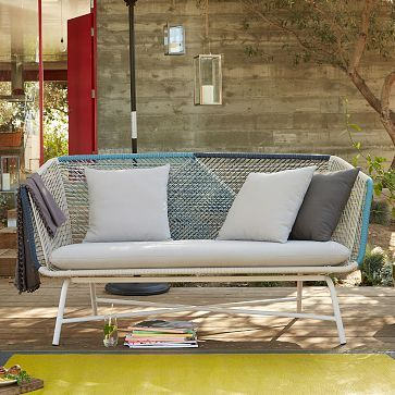 west elm outdoor furniture. this huron corded outdoor furniture at west elm is bonkers pretty would love to see a few more colors household pinterest cement patios and deck