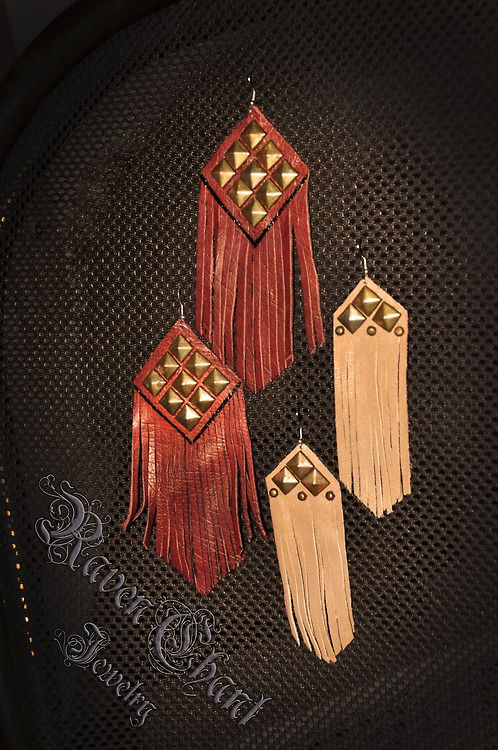 fringe leather earrings