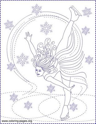 Nicoles Free Coloring Pages ICE SKATING PRINCESS