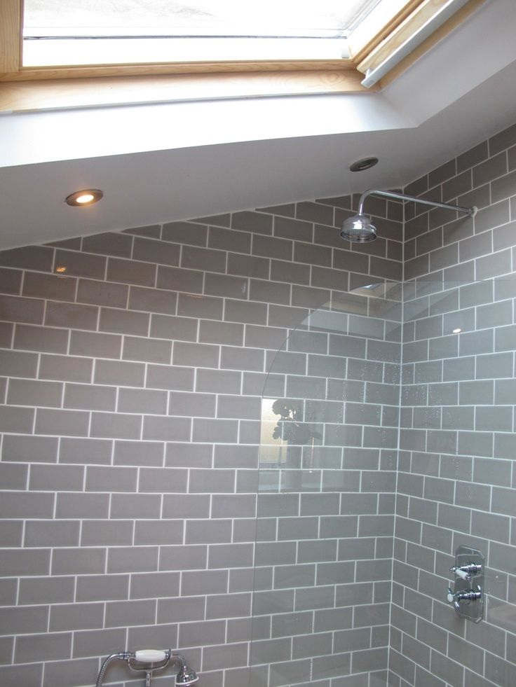 gray subway tile bathroom currently reading | City Gate Beach Road