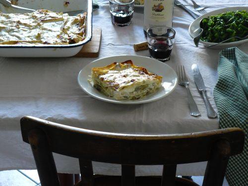 artichoke and ricotta lasagna