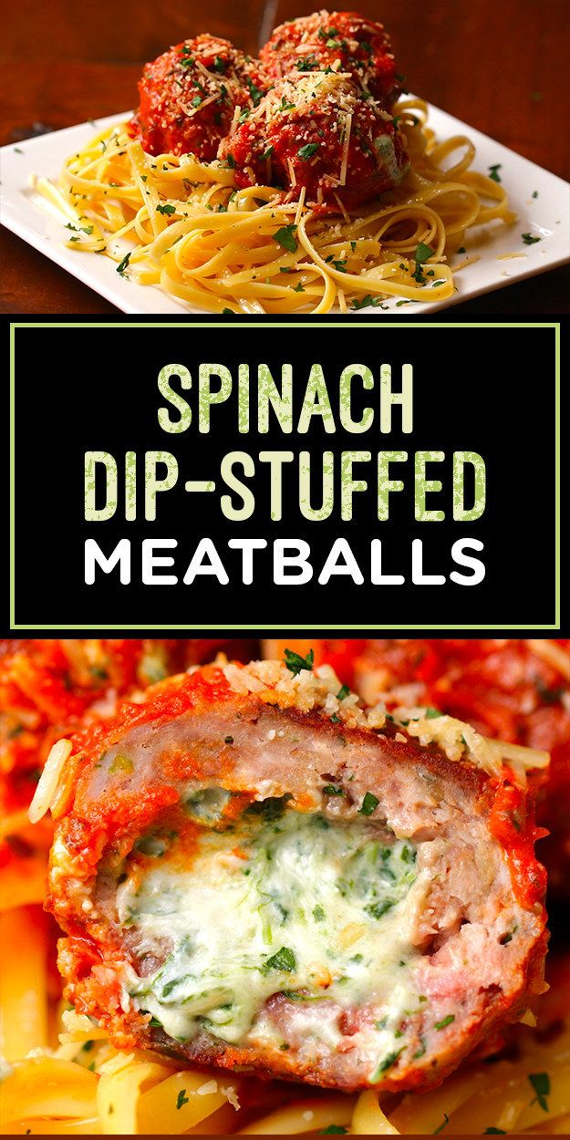 These Spinach Dip-Stuffed Meatballs Are Works Of Art