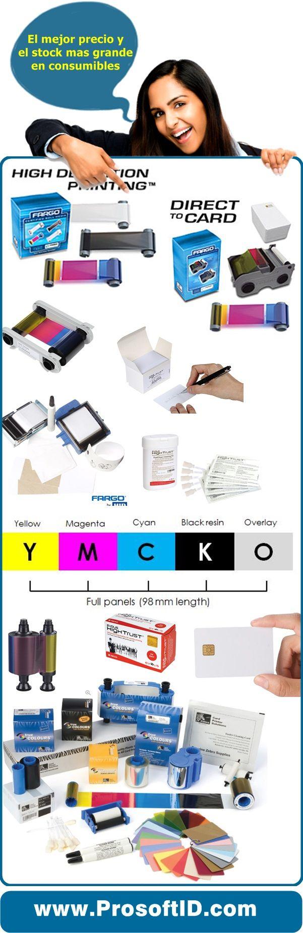 consumibles impresoras Evolis, Zebra, Magicard, Nisca, Fargo, Datacard, Smart, CIM, Tarjetas plasticas, smart card, proximidad, cintas, hologramas, toda la linea completa en http://www.prosoftid.com/#ribbons-evolis-magicard