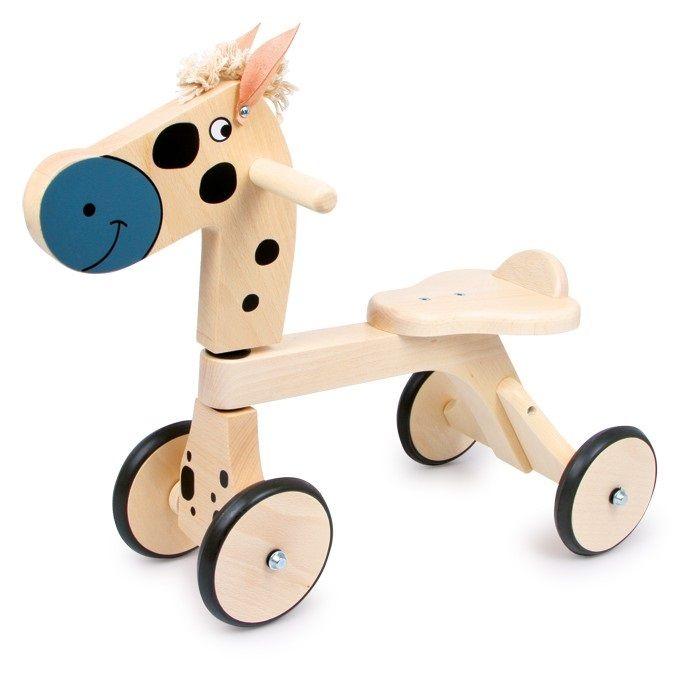 Caballito de #madera walker para #niños sin pedales para entrenar la #motricidad #educacion