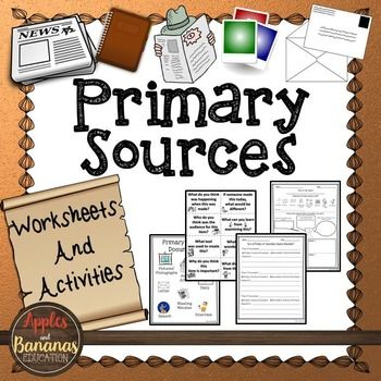 This packet helps elementary teachers introduce primary source documents, and distinguish the difference between primary and secondary source documents for their students.