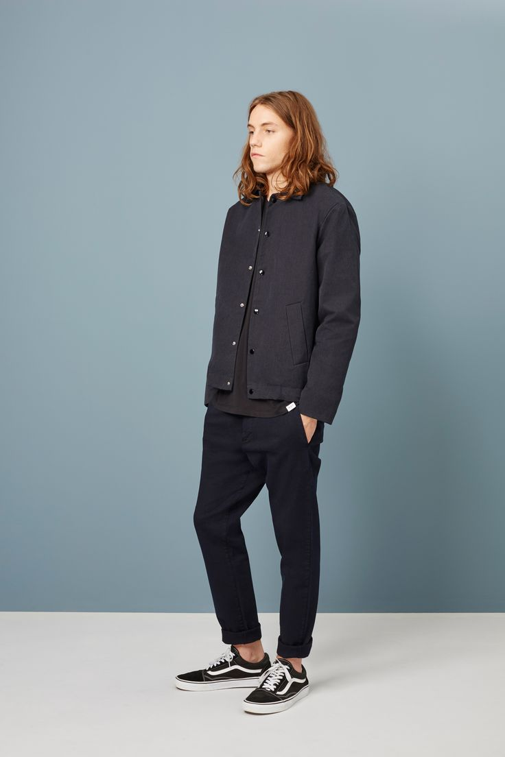 Otley Coach Jacket navy - Men's Outerwear | Wax London