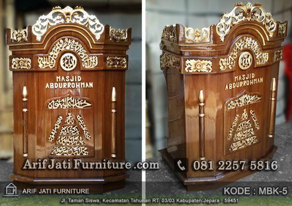 harga mimbar podium masjid murah