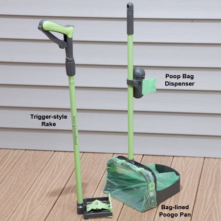Poogo Stick Pooper Scooper - Back-friendly scooper ensures no more bending over to clean up pet waste - and you'll never again use a latex glove.