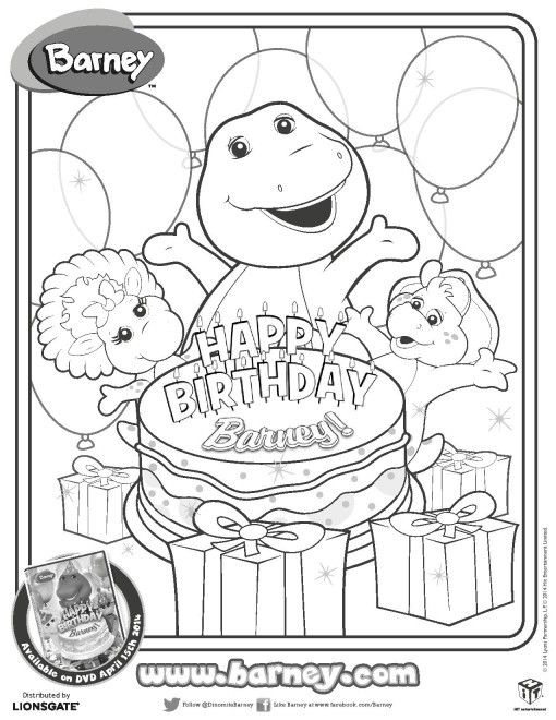 Barney Coloring Pages Math Worksheet. Barney. Best Free