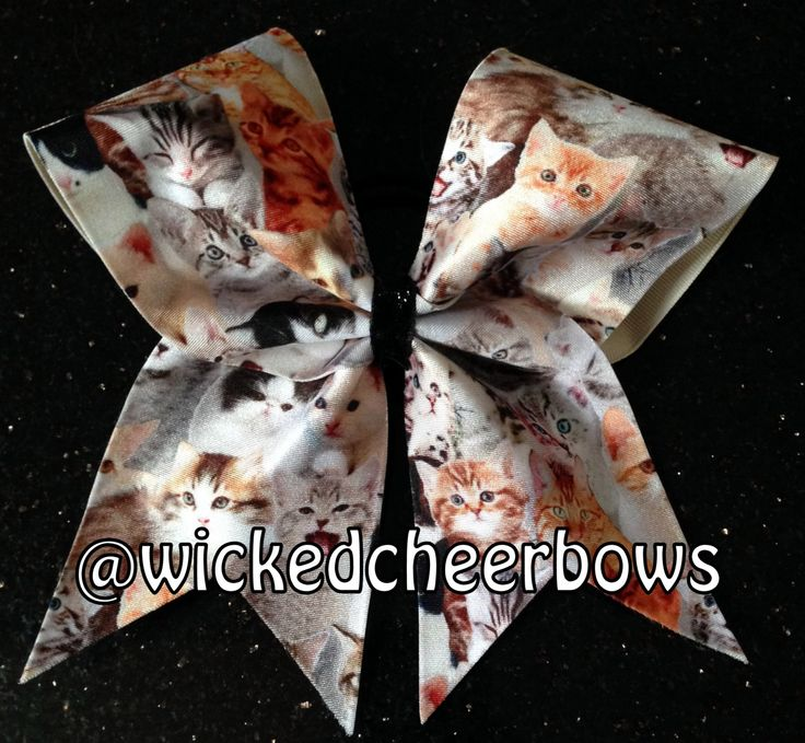 Cheer Bow - Cats by WickedCheerBows on Etsy https://www.etsy.com/listing/196533821/cheer-bow-cats