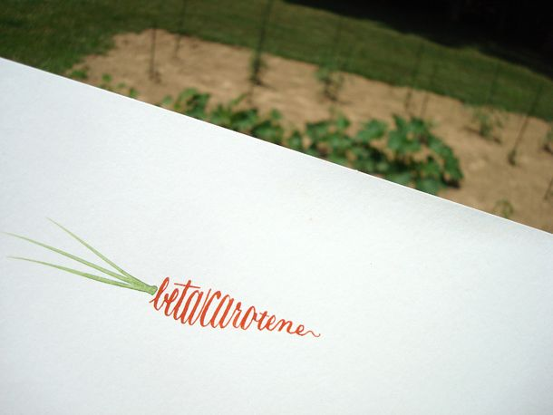 betacarotene... Nice minimalist design