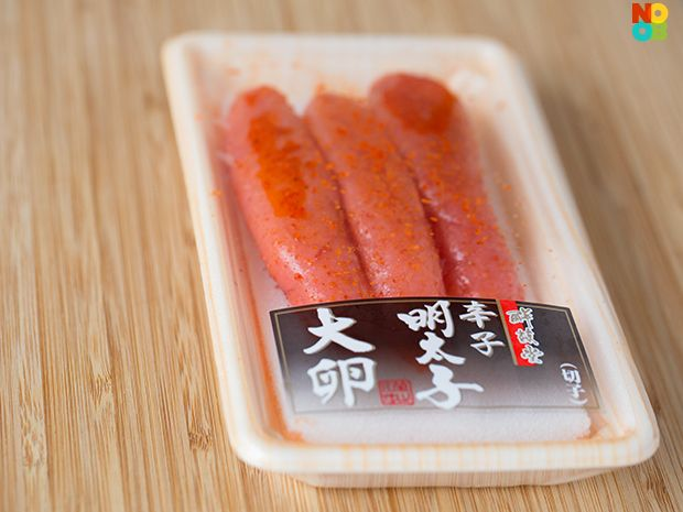 Ingredient spotlight for karashi mentaiko (marinated roe of pollock and cod), popular in Japanese cuisine.