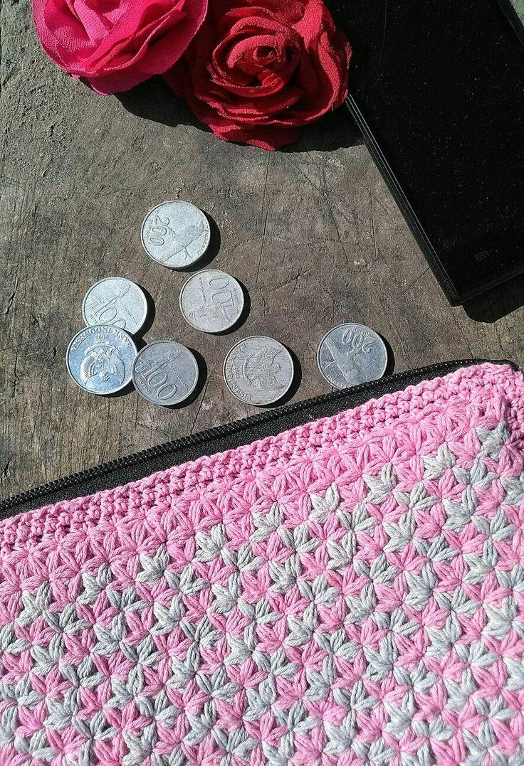 Dompet Rajut Cover wallet Crochet