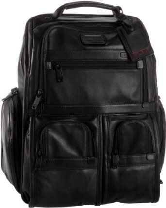 Tumi Alpha Compact Laptop Briefcase Pack,Black,one size TUMI. $476.00