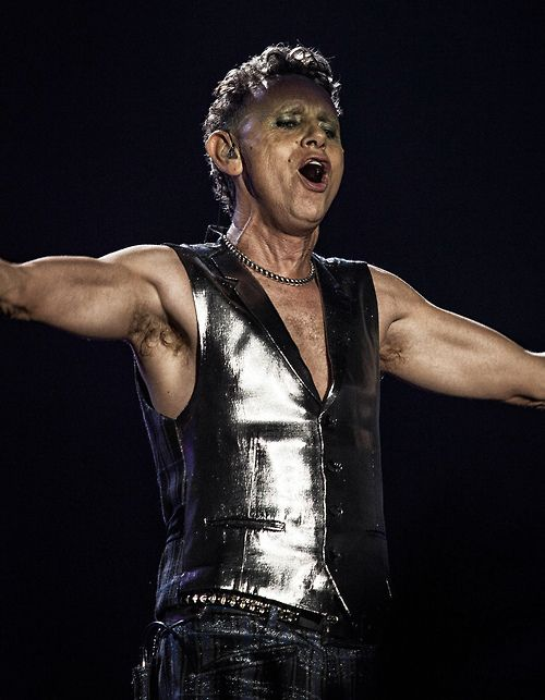 Martin Gore of Depeche Mode.  Holy Cow is this cool.  And his hair, still wonderful after all these years!