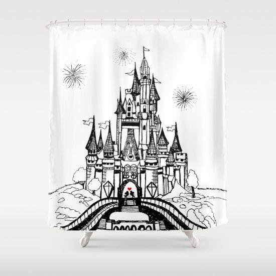 Mouse in Love, disney bathroom, cinderella castle, mickey, minnie, love, unique bathroom decor