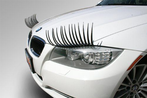 Car Eyelashes, $10 i hate these. i hate these so much. every time i see a car with these on in the parking lot, i'm tempted to rip them off. WHY.