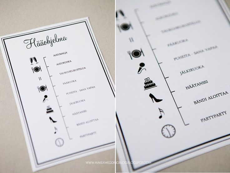 Amazing idea for the program of the wedding reception