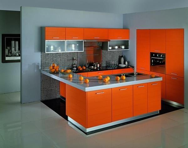 10 orange kitchen