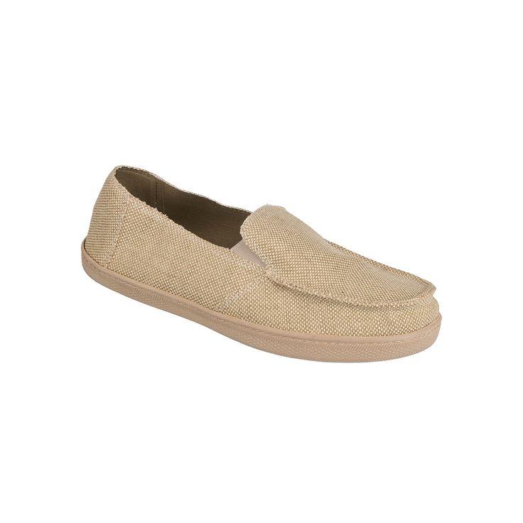 Men's Wembley Canvas Slip-On Casual Shoes, Size: Medium, Dark Beige