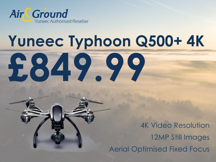 The elite Yuneec Typhoon Q500+ 4K at only £849.99 Grab yours now while stocks last⌨️  Shop online at: http://stores.ebay.co.uk/airandground/?utm_content=buffer8d6a6&utm_medium=social&utm_source=pinterest.com&utm_campaign=buffer  or contact us at sales@airandground.com