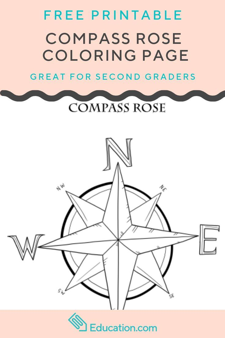 Compass Rose Worksheet Education Com Rose Coloring Pages Compass Rose Compass Directions