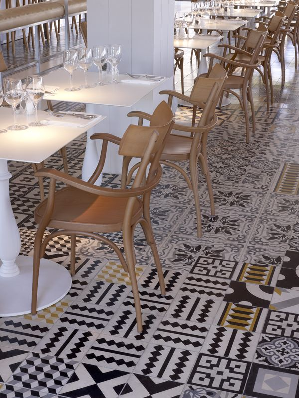 Flooring - tiles - love the mismatch of tiles.....makes a statement....'why not'!