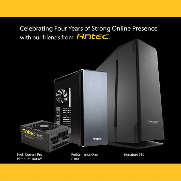 4 Year Anniversary USA Giveaway With Antec