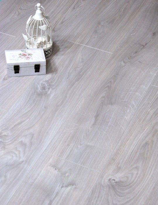 Belfort Oak Silver is a German made floor by top brand name Egger. It is part of the 11mm range. It's a tough AC4 class laminate that is also suitable for use in commercial situations . It has beveled edges and an embossed surface. Belfort Oak Silver is a beautiful silver or grey coloured oak that can enhance any room.
