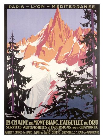 French Travel Ad poster - Mont Blanc