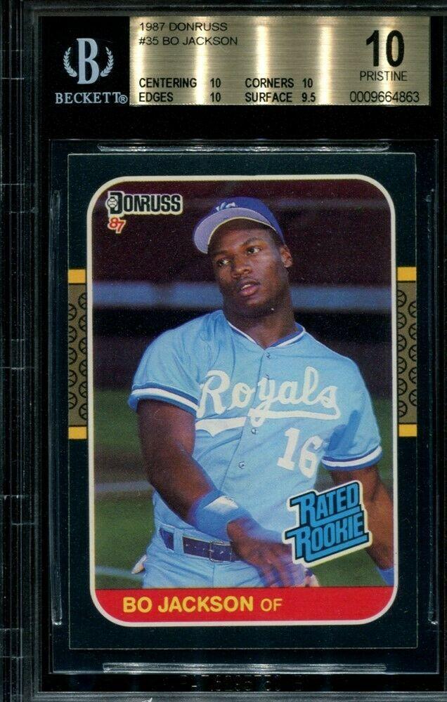 Bgs 10 Pristine Bo Jackson 1987 Donruss 35 Rookie Rc Royals