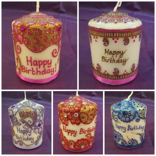 Also from Zara's Mehndi & Gifts these lovely birthday candles! #Huddersfield #handmade
