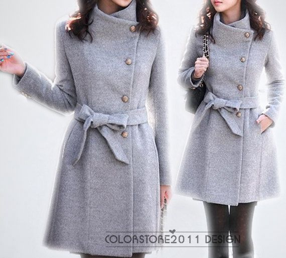 Womens wool coats grey – Novelties of modern fashion photo blog