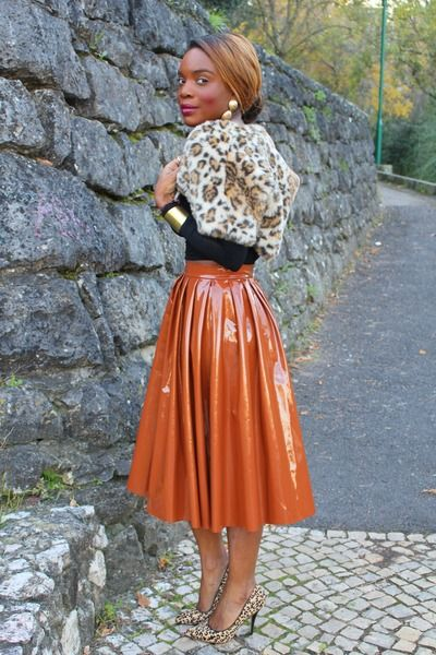 "I think I could pull this off Tawny H&M Skirts, Black Primark Tops, Black Aldo Heels | ""Afro 50s Style"" by Afrovaidosas"