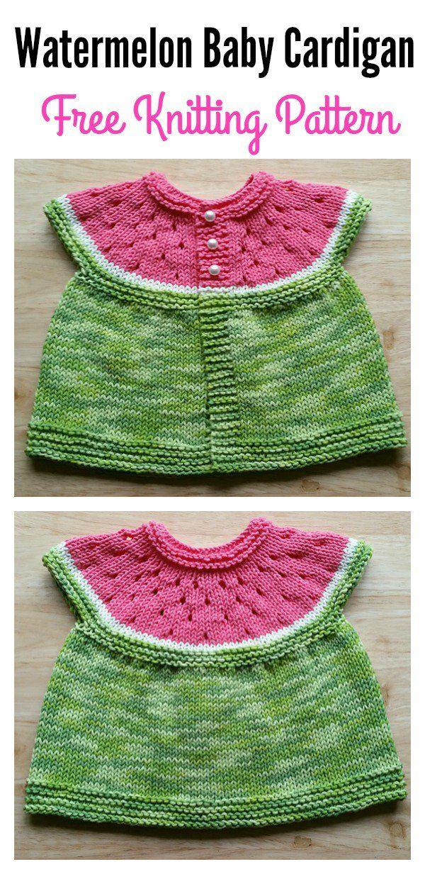 9044500d3 Watermelon Baby Cardigan Free Knitting Pattern