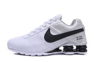8d095e9eb82 Nike Shox Deliver White Silver Black Mens Running Shoes