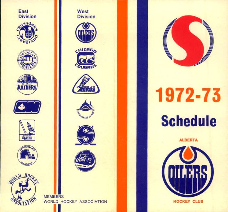 1972-73 Alberta Oilers WHA schedule