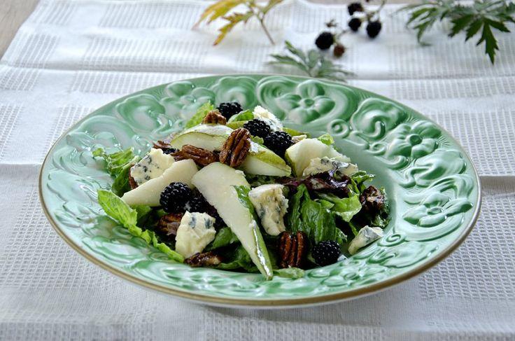 Pæresalat med blåmuggost