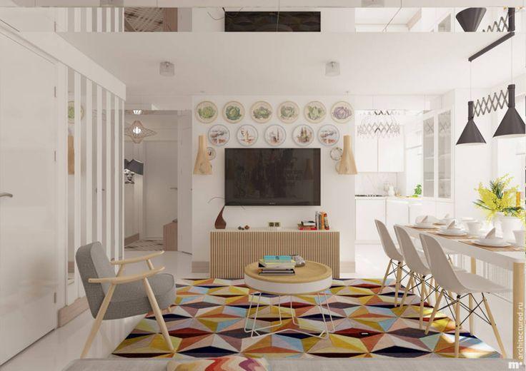 Piękny salon, podłoga w salonie. Zobacz więcej na: https://www.homify.pl/katalogi-inspiracji/91768/podloga-w-salonie-8-roznych-materialow