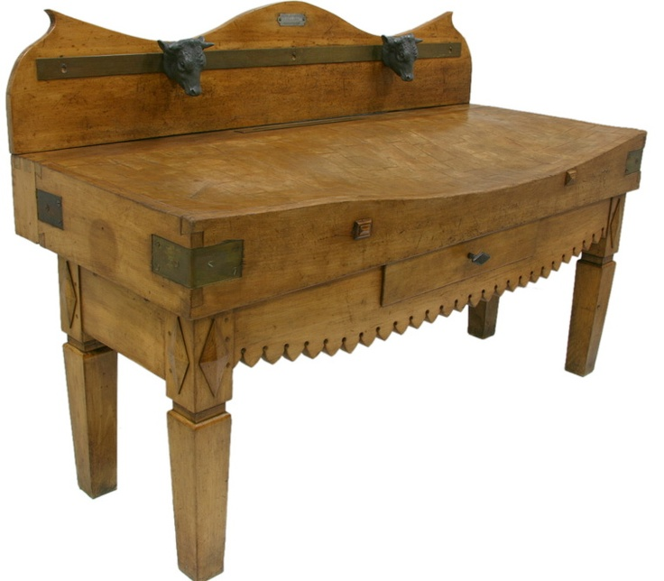 century french butcher block table explore items from - Butchers Block