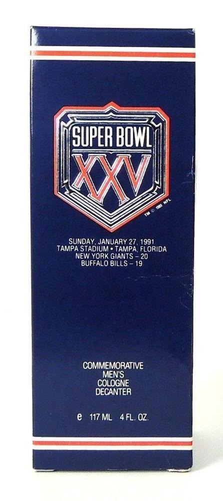 RARE New SUPER BOWL XXV COLOGNE 4 Fl Oz LTD. ED. 1991 NY Giants vs Buffalo Bills