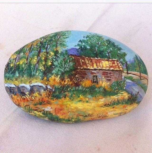 Paisaje #handmade #piedraspintadasamano #piedras #piedraspintadas #handmade
